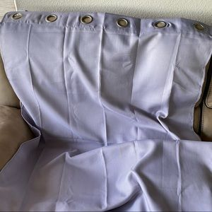 Lilac Curtain panels with metal grommets